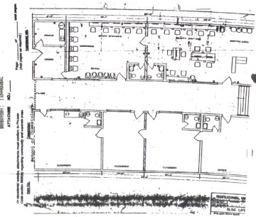 Blue print of future cosmetology school